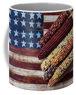 Indian Corn On American Flag Coffee Mug