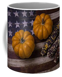 Indian Corn On Old Flag Coffee Mug
