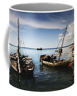 Indian Ocean Dhow At Stone Town Port Coffee Mug