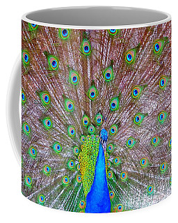 Coffee Mug featuring the photograph Indian Peacock by Deena Stoddard