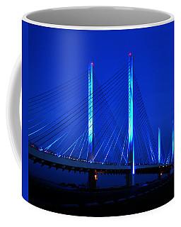 Indian River Bridge At Night Coffee Mug