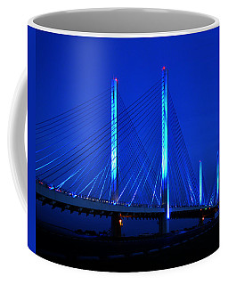Indian River Bridge At Night Coffee Mug