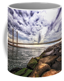 Indian River Bridge Clouds Coffee Mug