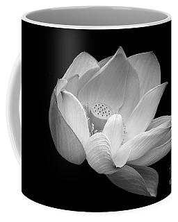 Indian Sacred Lotus In Black And White Coffee Mug