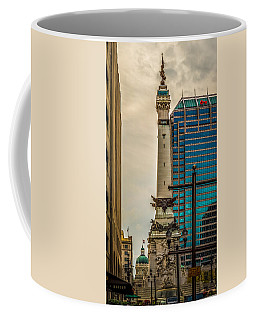 Indiana - Monument Circle With State Capital Building Coffee Mug