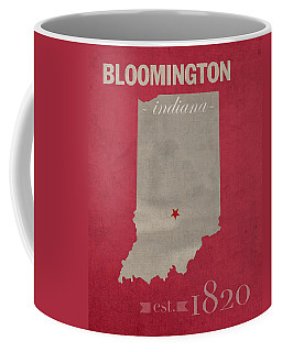 Indiana University Hoosiers Bloomington College Town State Map Poster Series No 048 Coffee Mug