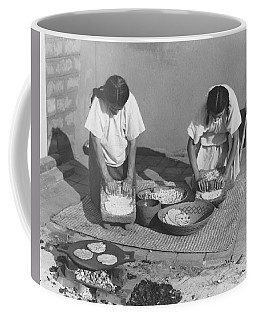 Indians Making Tortillas Coffee Mug