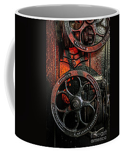 Industrial Wheels Coffee Mug by Carlos Caetano