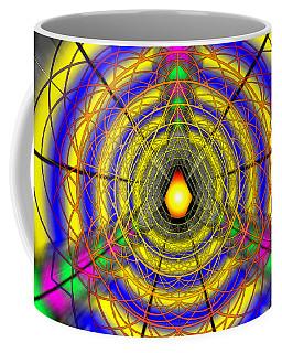 Coffee Mug featuring the drawing Infinity Gateway Nine by Derek Gedney