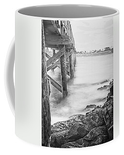 Coffee Mug featuring the photograph Infrared View Of Stormy Waves At Stramsky Wharf by Jeff Folger
