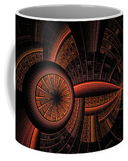 Coffee Mug featuring the digital art Inner Core by GJ Blackman