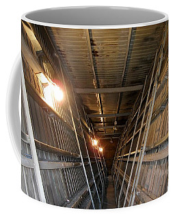 Coffee Mug featuring the photograph Inside A Potato Shed by Jennifer Muller