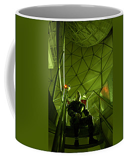 Coffee Mug featuring the photograph Inside A Satellite Dish by Science Source