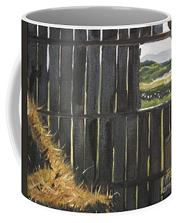Barn -inside Looking Out - Summer Coffee Mug