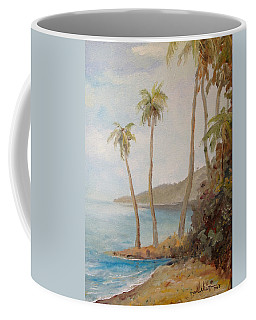 Coffee Mug featuring the painting Inside The Reef by Alan Lakin