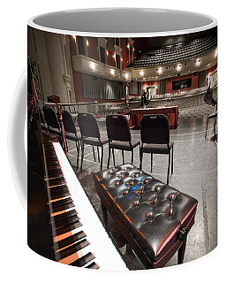 Coffee Mug featuring the photograph Inside Theater by Alex Grichenko