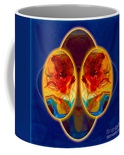 Coffee Mug featuring the painting Insights And Awareness Abstract Healing Art by Omaste Witkowski
