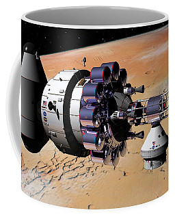 Inspection Over Mars Coffee Mug