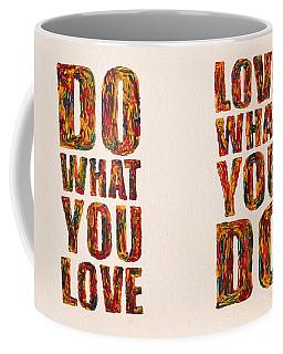 Inspiring Palette Knife Acrylic Coffee Mug by Georgeta  Blanaru