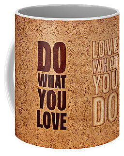 Coffee Mug featuring the painting Inspiring Quote Original Coffee Painting by Georgeta Blanaru