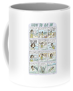 Instructions For Getting Into The Ocean Coffee Mug