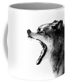 Intense Gray Wolf Portrait  Coffee Mug