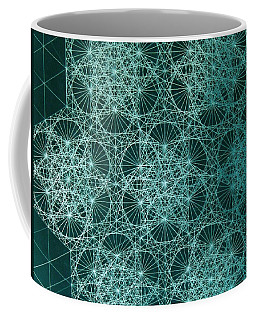 Coffee Mug featuring the drawing Interference by Jason Padgett