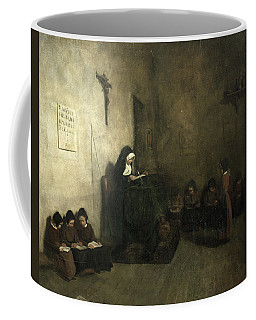 Interior Of A School For Orphaned Girls, 1850 Oil On Canvas Coffee Mug