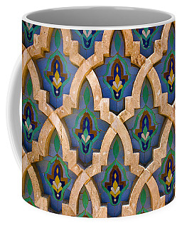 Intricate Zelji At The Hassan II Mosque Sour Jdid Casablanca Morocco Coffee Mug by Ralph A  Ledergerber-Photography