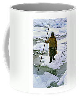 Coffee Mug featuring the photograph Inuit Seal Hunter Barrow Alaska July 1969 by California Views Mr Pat Hathaway Archives