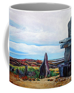 Inukshuk Coffee Mug by Marilyn  McNish