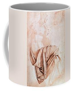 Inv. 1887-5-2-118 Recto W.10 Study Of Drapery Drawing Coffee Mug