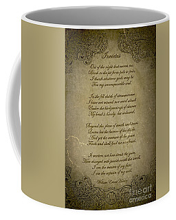 Invictus By William Ernest Henley Coffee Mug