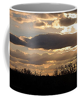 Coffee Mug featuring the digital art Iowa Sunset by Kirt Tisdale