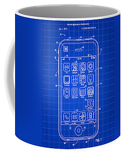 iPhone Patent - Blue Coffee Mug by Stephen Younts