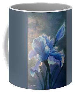 Iris Blue Coffee Mug by Kay Novy