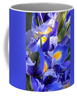 Iris Blues In New Orleans Louisiana Coffee Mug by Michael Hoard