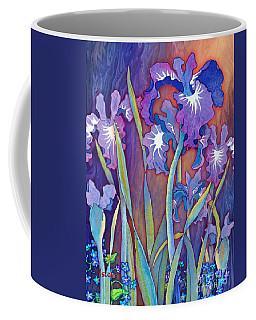 Coffee Mug featuring the mixed media Iris Bouquet by Teresa Ascone