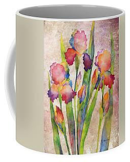 Iris Elegance On Pink Coffee Mug