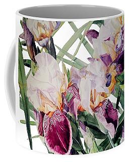 Watercolor Of Tall Bearded Irises I Call Iris Vivaldi Spring Coffee Mug