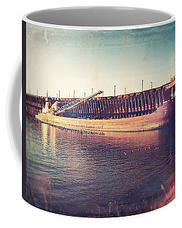 Iron Ore Freighter In Dock Coffee Mug