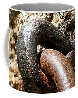 Coffee Mug featuring the photograph Iron Rings In Stone by William Selander