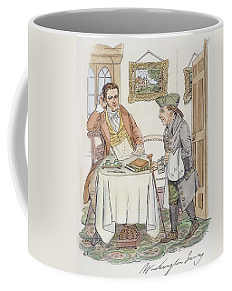 Coffee Mug featuring the painting Irving & Knickerbocker by Granger