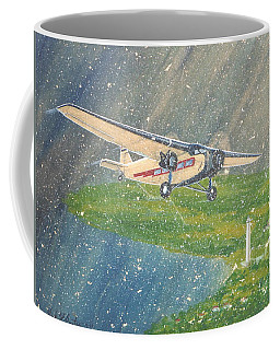 Island Airlines Ford Trimotor Over Put-in-bay In The Winter Coffee Mug