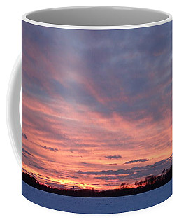 Coffee Mug featuring the photograph Island Barn Sunset by Robert Nickologianis