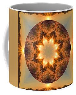 Coffee Mug featuring the photograph Island Beach Sunset Mandala by Beth Sawickie
