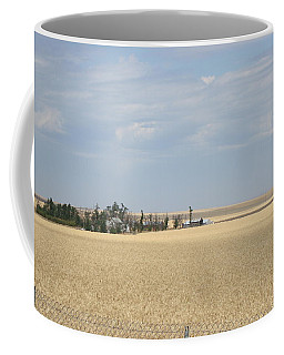 Island In Wheat Field Coffee Mug