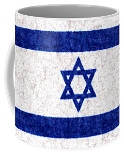 Israel Star Of David Flag Batik Coffee Mug by Kurt Van Wagner