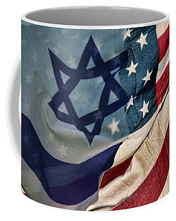 Israeli American Flags Coffee Mug