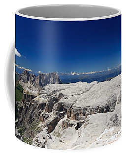 Italian Dolomites - Sella Group Coffee Mug by Antonio Scarpi